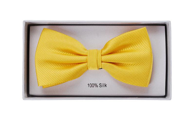 Silk Bow Tie Yellow F70