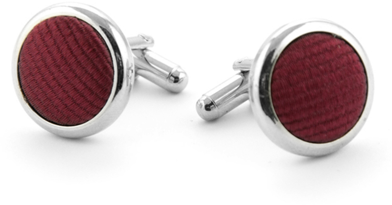 Silk Cufflinks Bordeaux F31 photo 0
