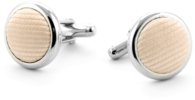Silk Cufflinks Champagne F10 photo 0
