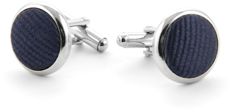 Silk Cufflinks Dark Purple F62