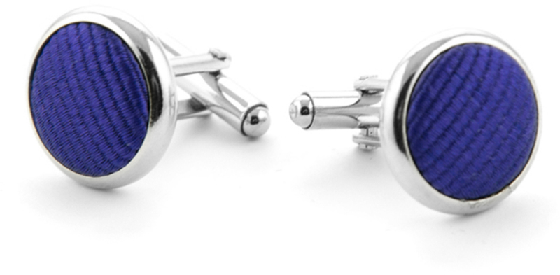 Silk Cufflinks Deep Purple F55