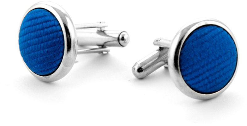 Silk Cufflinks Kobalt Blue F65