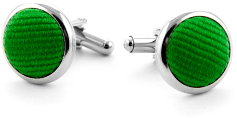 Silk Cufflinks Smaragd Green F68