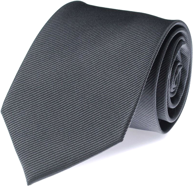 Silk Tie Dark Grey F53 photo 0
