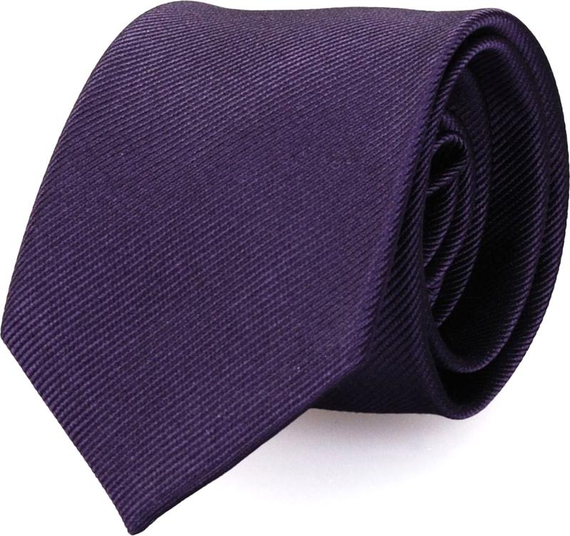 Silk Tie Dark Purple F62