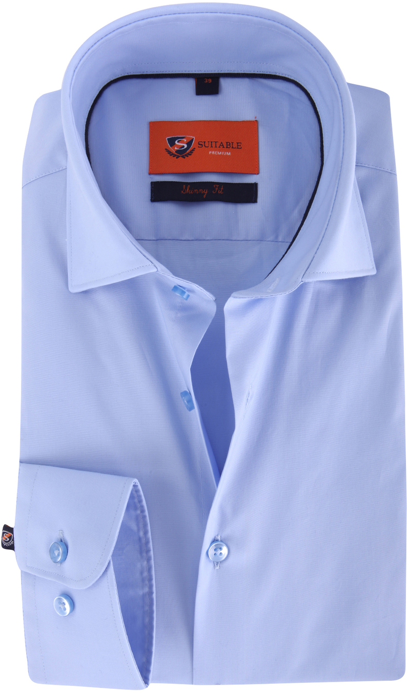 Skinny Fit Shirt Light Blue