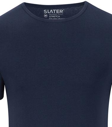 Slater 2er-Pack Stretch T-shirt Dunkelblau Foto 1