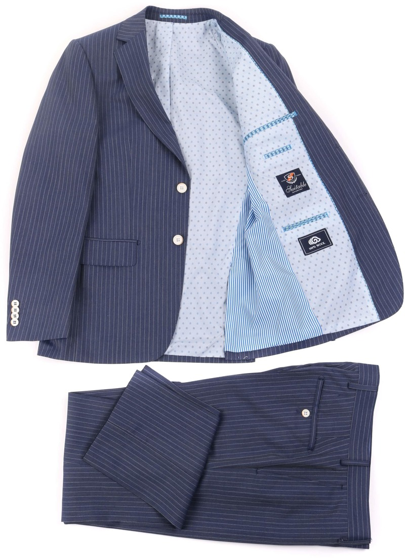 Striped Suit Manne Dark Blue