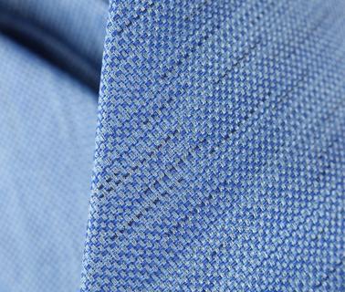 Detail Stropdas Zijde Blauw Motief