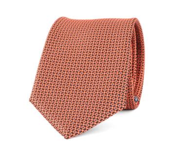 Stropdas Zijde Dessin Oranje 9-17  online bestellen | Suitable