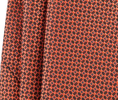 Detail Stropdas Zijde Dessin Oranje 9-17