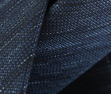 Detail Stropdas Zijde Donkerblauw Motief