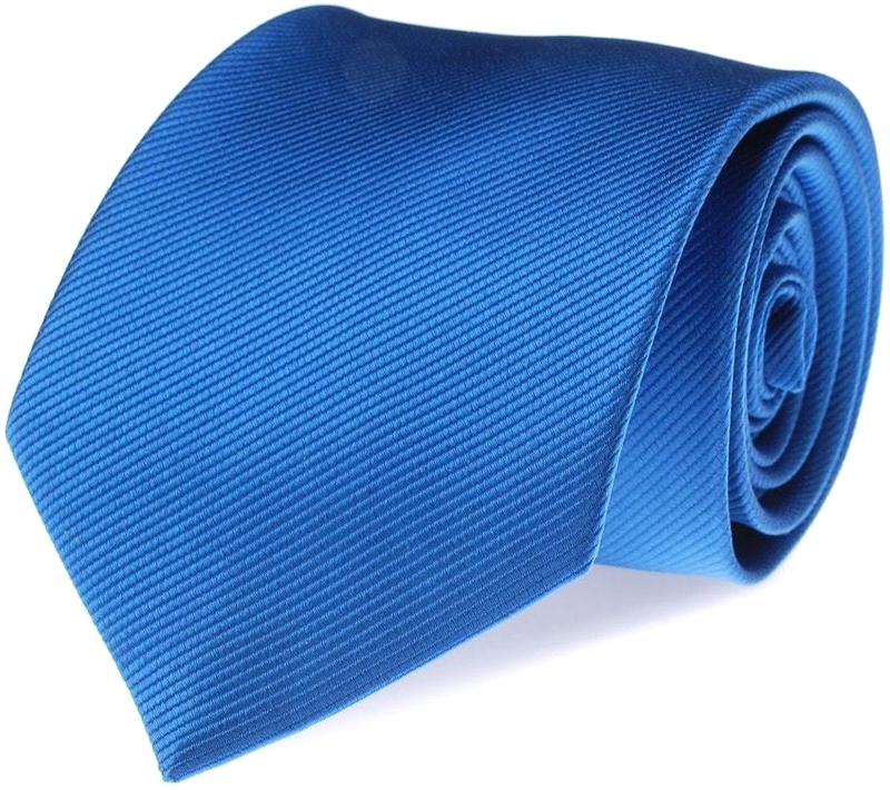 Stropdas Zijde Midden Blauw Uni F05 foto 0