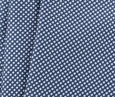 Detail Stropdas Zijde Ruit Lichtblauw 9-17