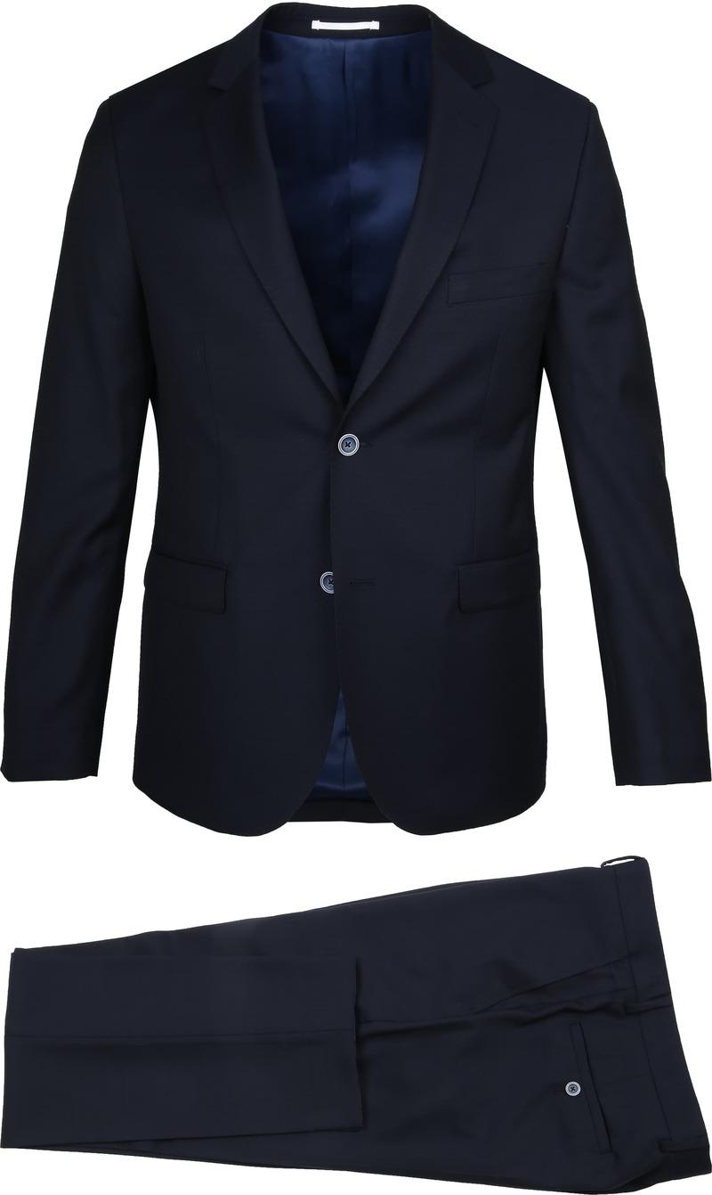 Suitable Anzug Lucius Oxford Dunkelblau Foto 0