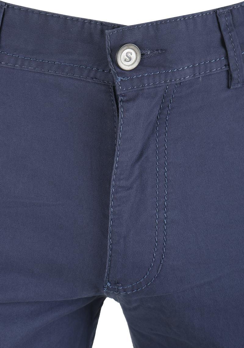 Detail Suitable Barrie Broek Donkerblauw