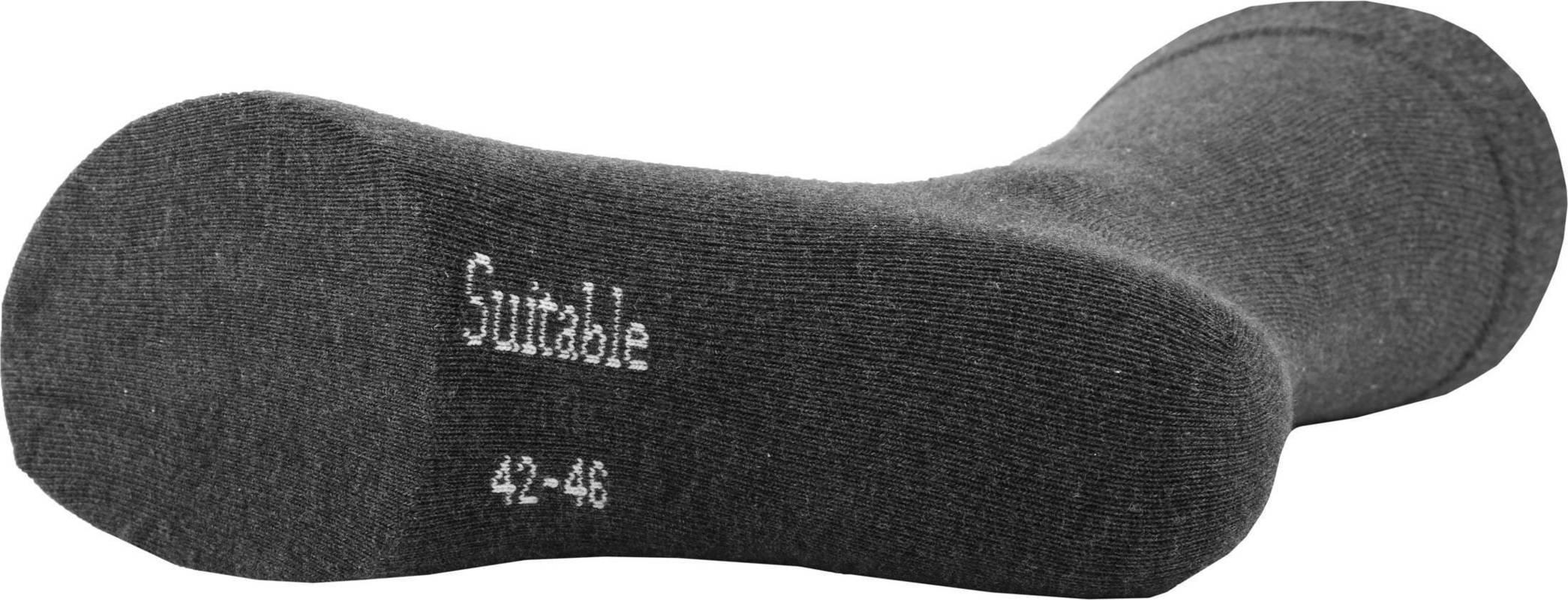 Suitable Bio Katoen Sokken Donkergrijs 3-Pack