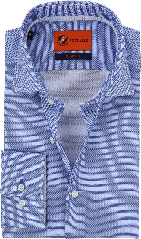 Suitable Blauw Overhemd foto 0