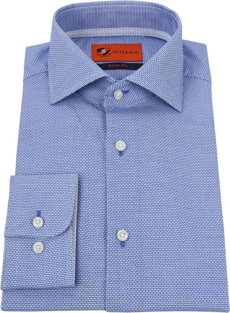 Suitable Blauw Overhemd foto 2
