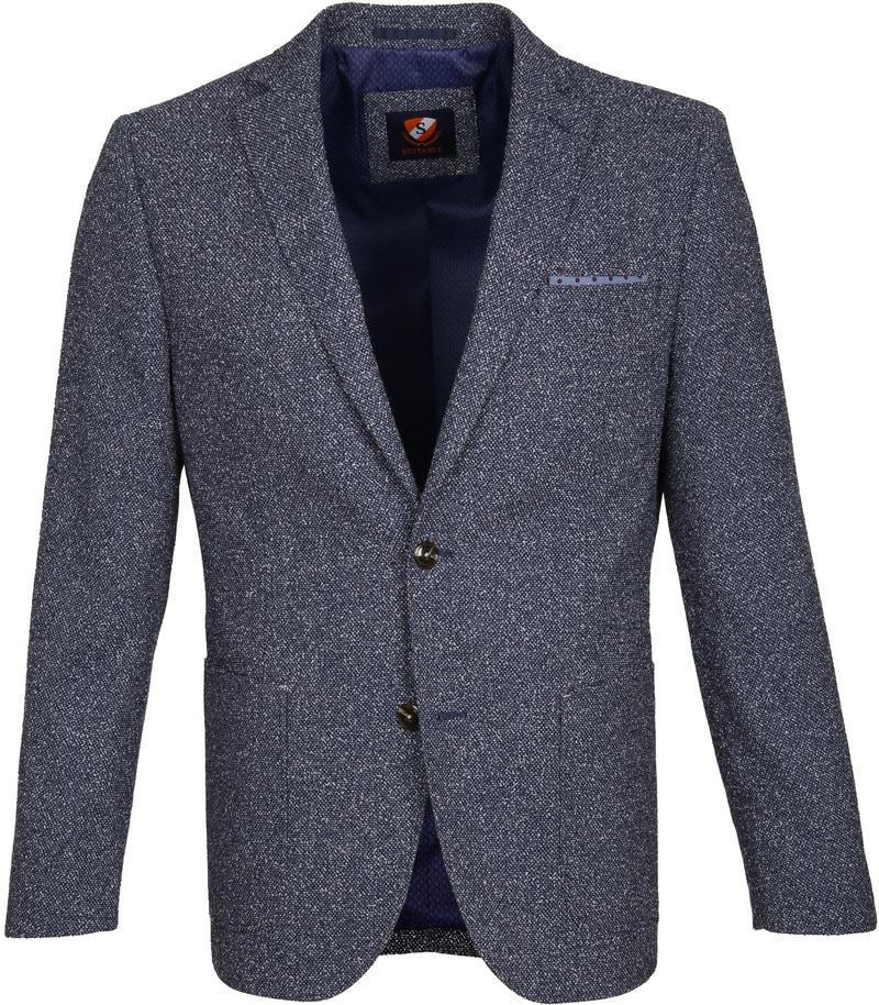 Suitable Blazer Art Blauw