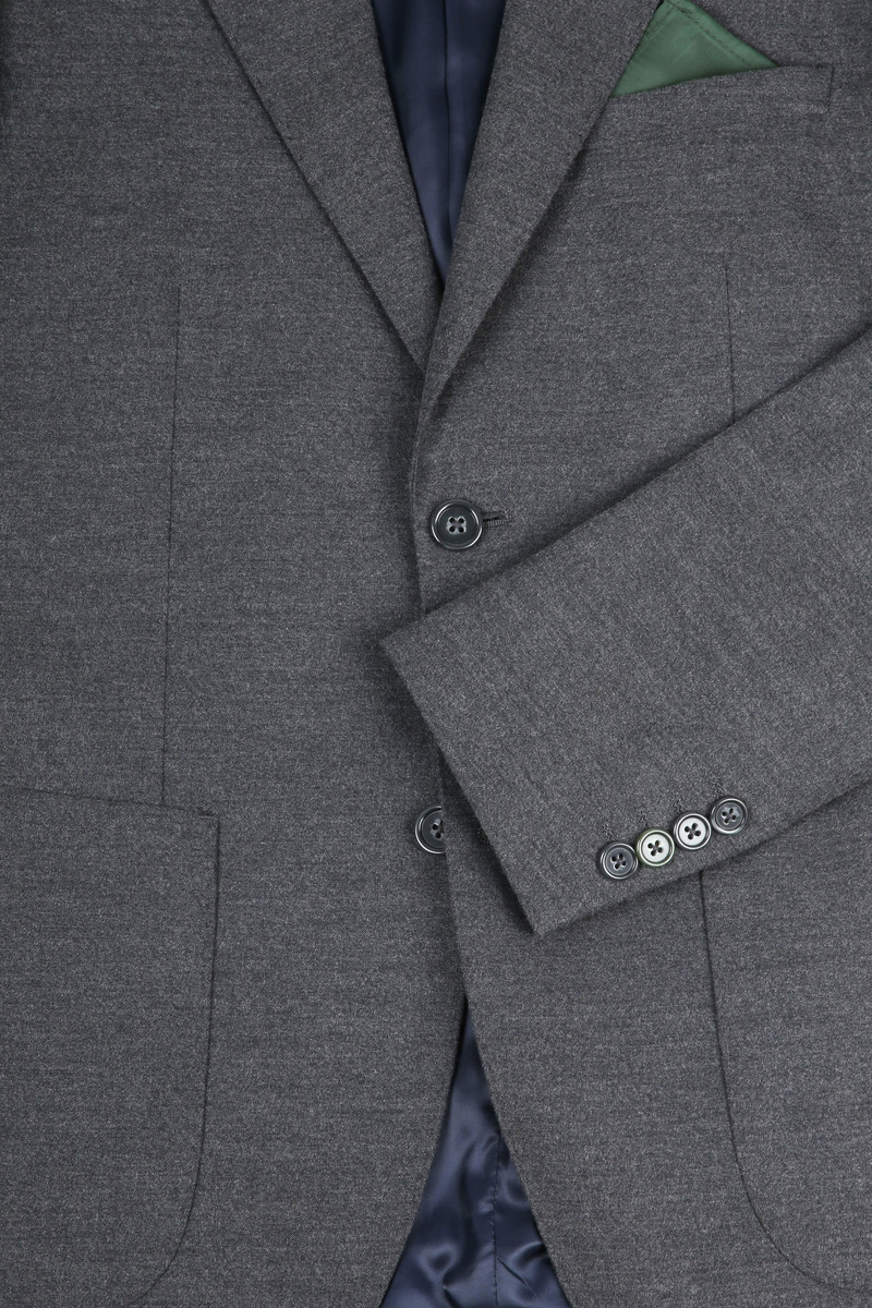 Suitable Blazer Flannel Grijs foto 1
