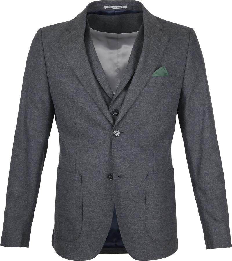 Suitable Blazer Flannel Grijs foto 0