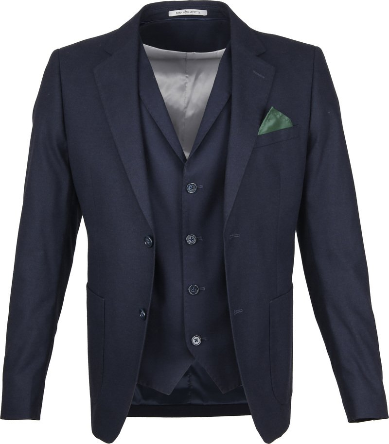 Suitable Blazer & Gilet Flannel Navy foto 0