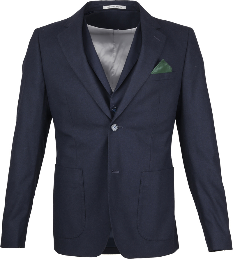 Suitable Blazer & Gilet Flannel Navy foto 2