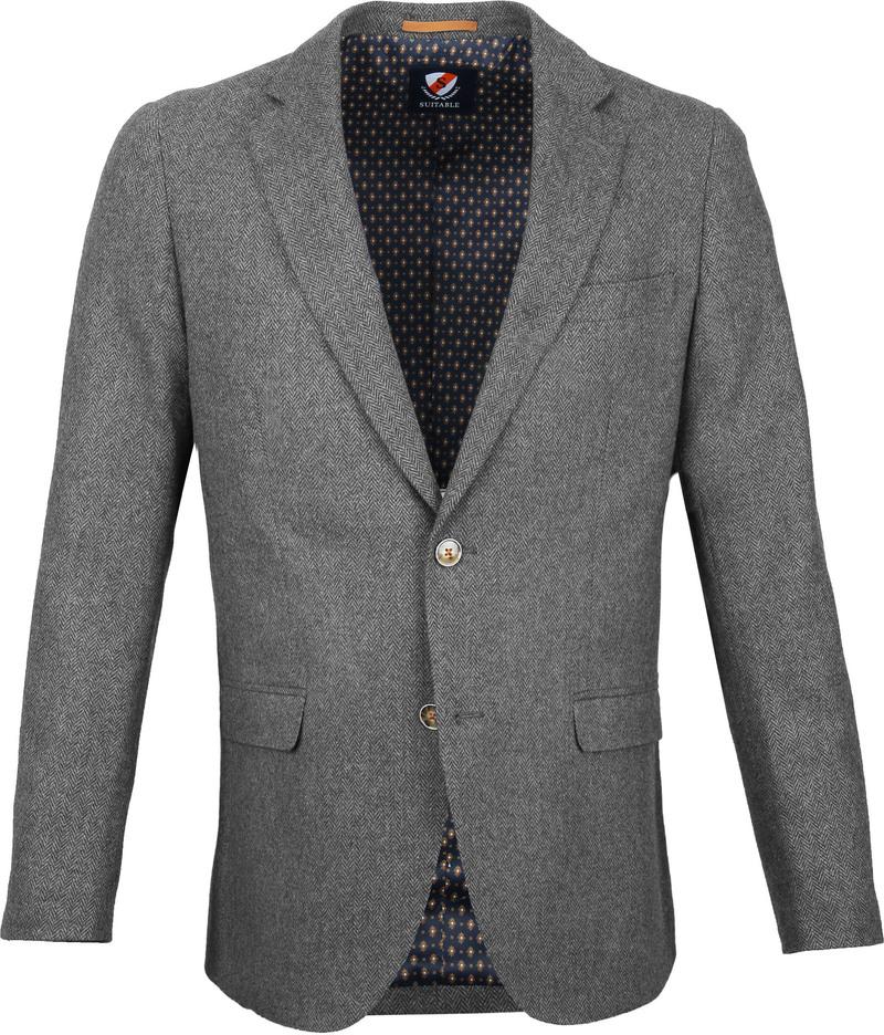 Suitable Blazer Nibe Grau Herringbone Foto 0