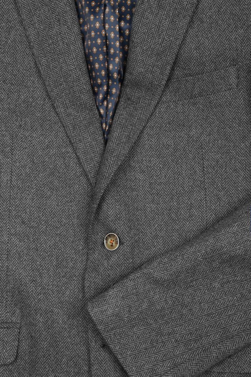 Suitable Blazer Nibe Grijs Herringbone foto 2