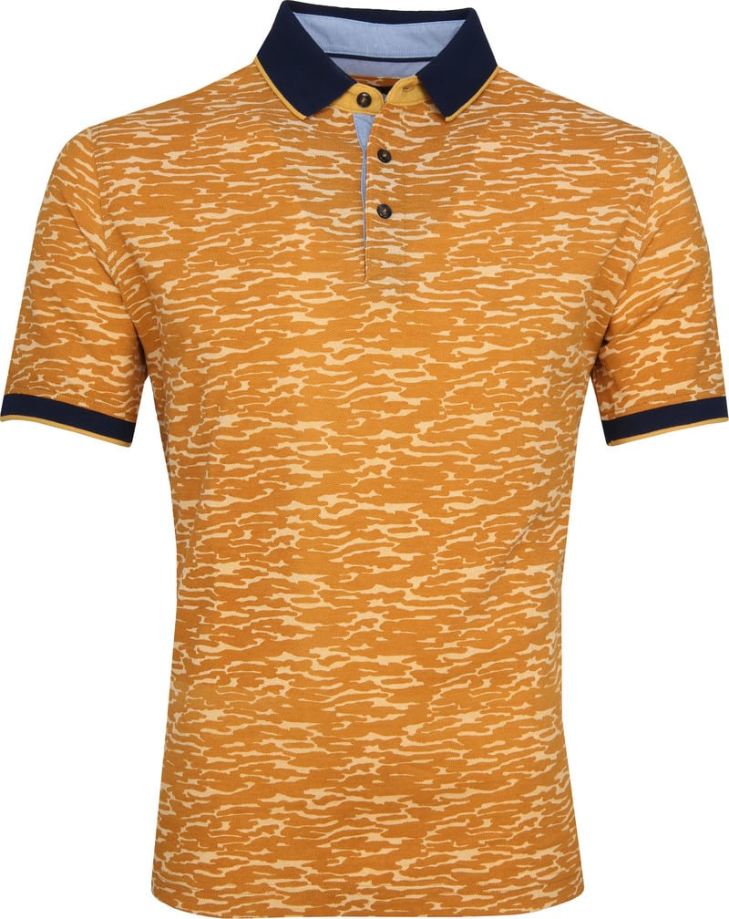 Suitable Camouflage Polo Oranje foto 0