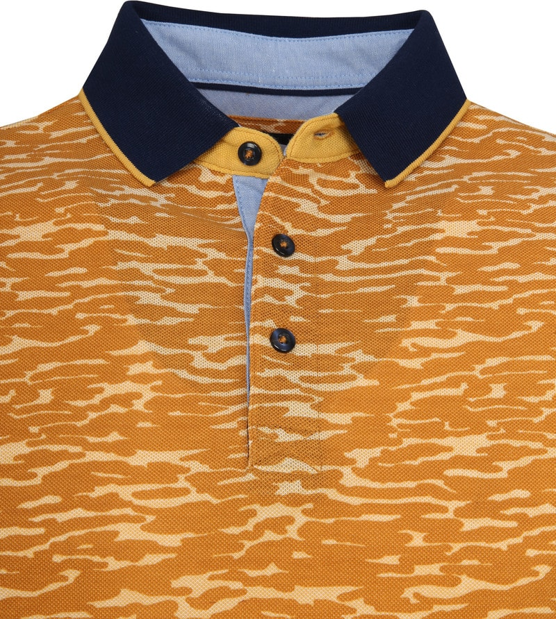 Suitable Camouflage Polo Oranje foto 1