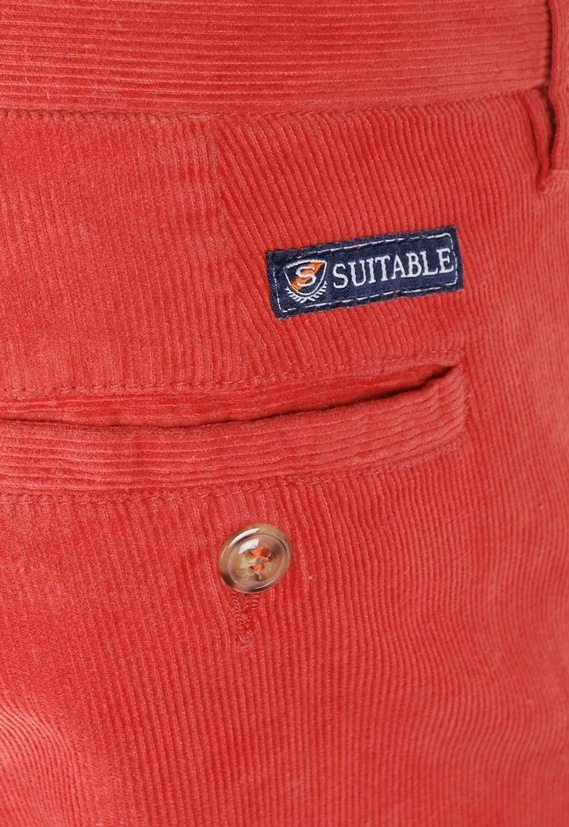 Suitable Chino Classic Cord Orange