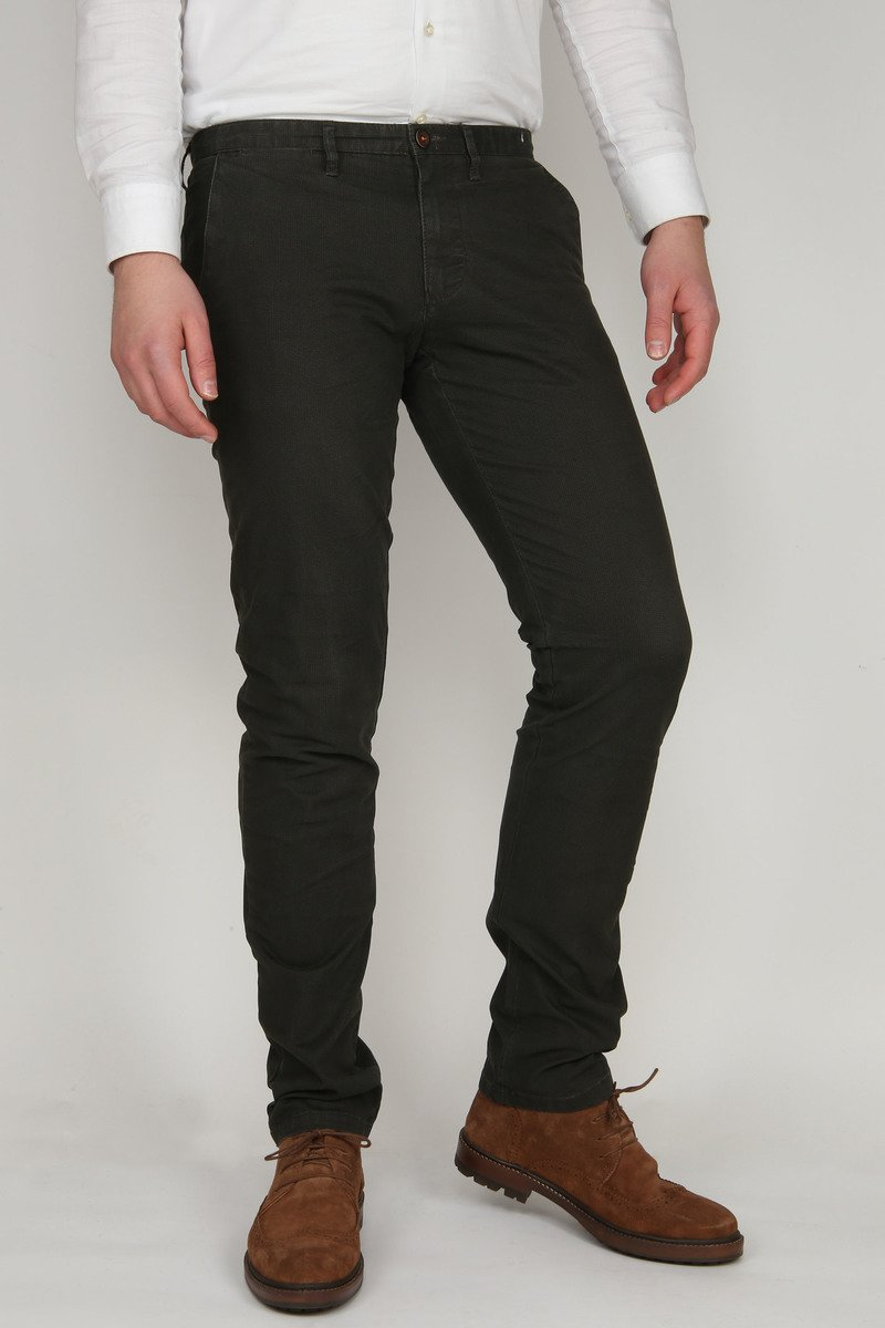 Suitable Chino Sartre Donker Groen