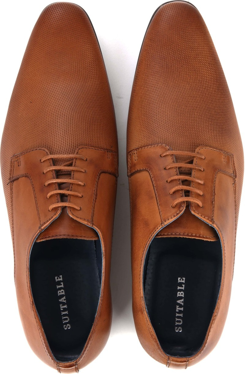 Suitable Dress Shoes Derby Cognac photo 2