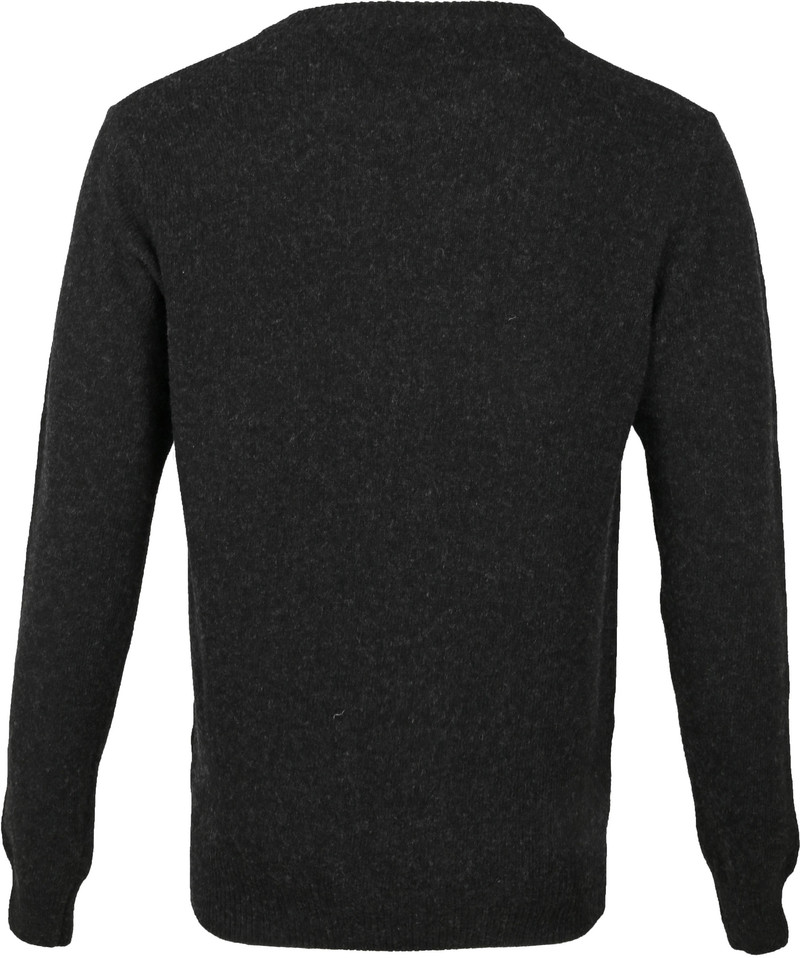 Suitable Fijn Lamswol 7 garen Pullover O-Hals Antraciet