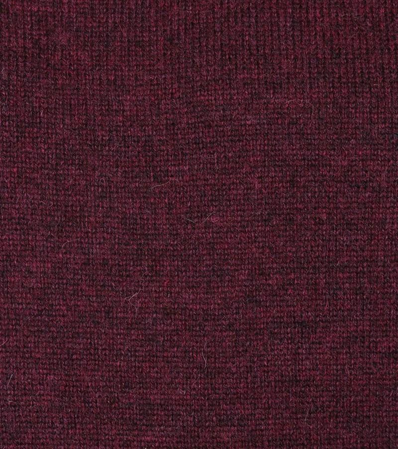 Suitable Fijn Lamswol 9 garen Pullover O-Hals Bordaux Rood