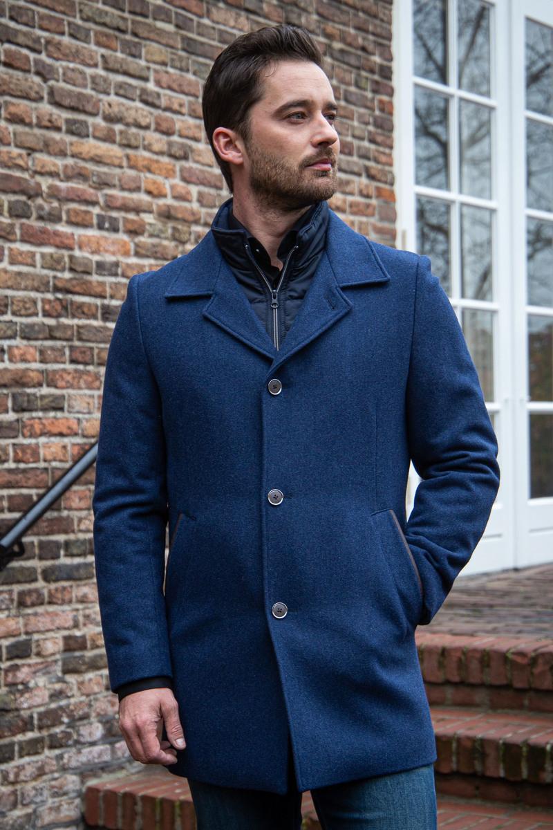 Suitable Geke Coat Donkerblauw