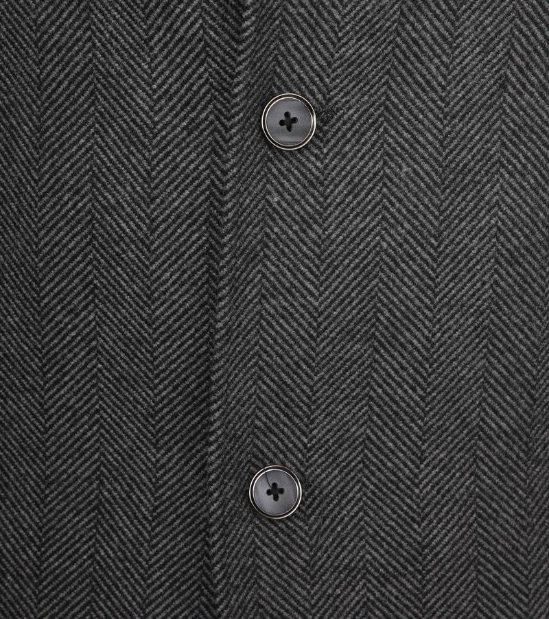Suitable Geke Coat Herringbone Antraciet foto 2