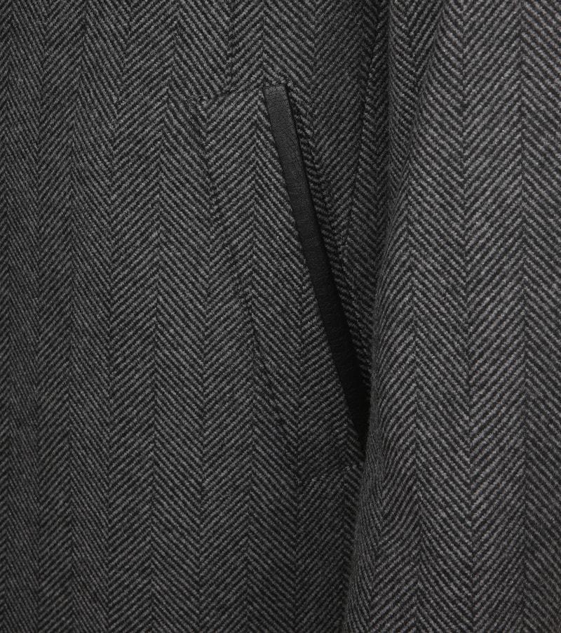 Suitable Geke Coat Herringbone Antraciet foto 4