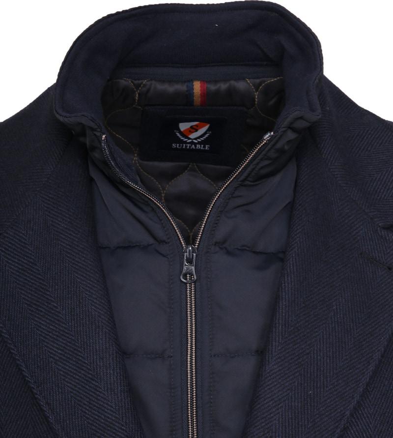 Suitable Geke Coat Herringbone Navy photo 1