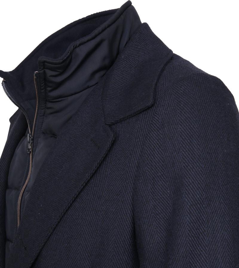 Suitable Geke Coat Herringbone Navy foto 2