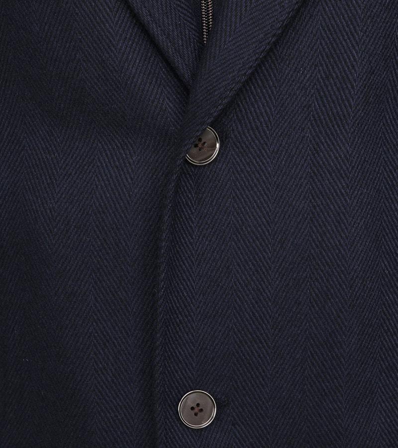 Suitable Geke Coat Herringbone Navy foto 3