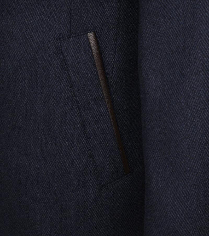 Suitable Geke Coat Herringbone Navy foto 4