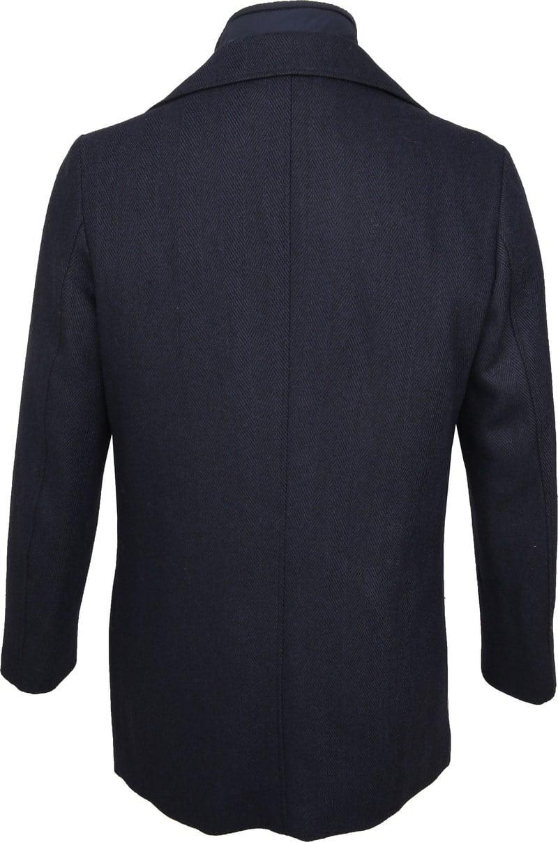 Suitable Geke Coat Herringbone Navy photo 6