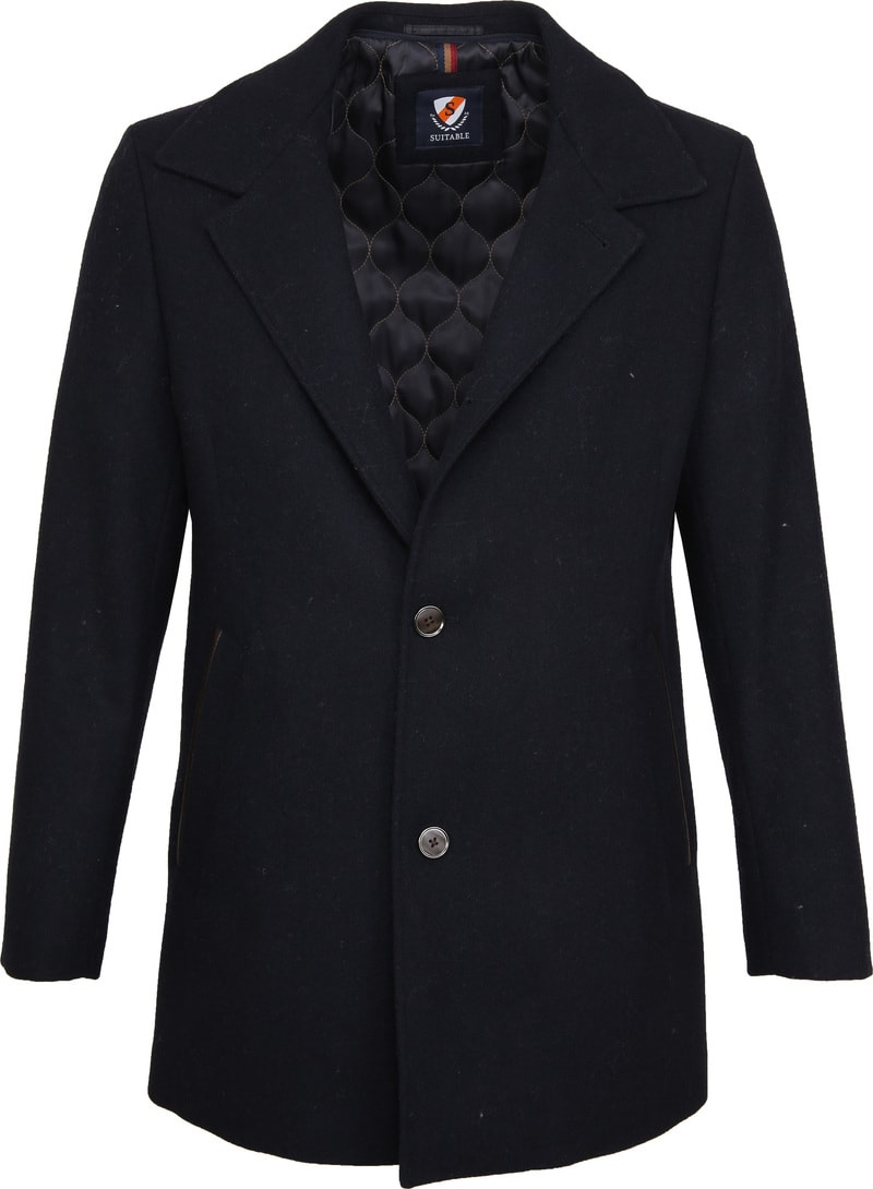 Suitable Geke Coat Navy photo 3
