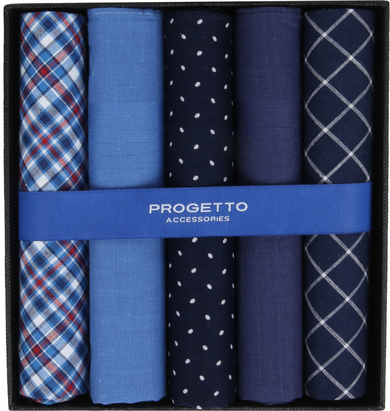 Suitable Handkerchief Set Blue photo 0