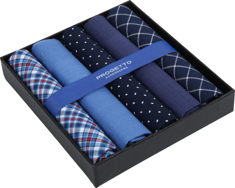 Suitable Handkerchief Set Blue photo 1