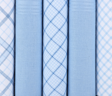Suitable Handkerchief Set Blue Checkered