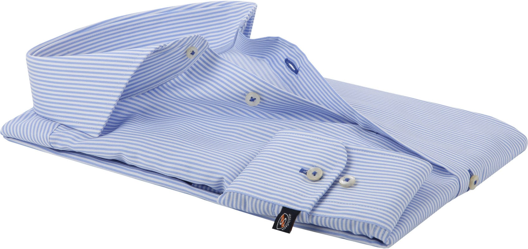 Suitable Hemd Streifen Blau Foto 3